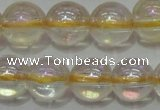 CCR302 15.5 inches 8mm round AB-color natural citrine beads