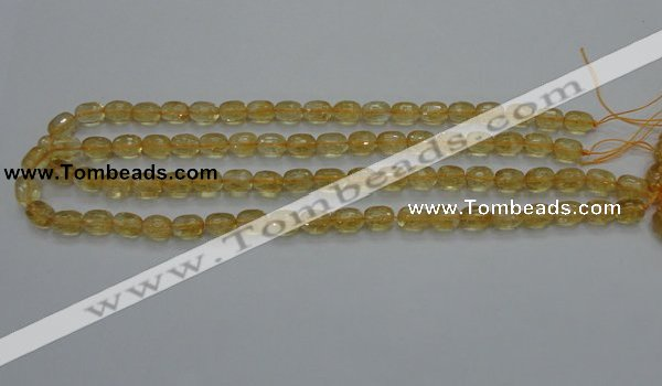 CCR33 15.5 inches 8*10mm faceted rice natural citrine gemstone beads