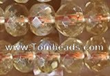 CCR335 15.5 inches 5*7mm faceted rondelle natural citrine beads