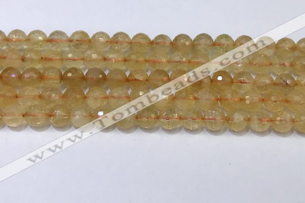 CCR341 15.5 inches 8mmm faceted round citrine beads wholesale