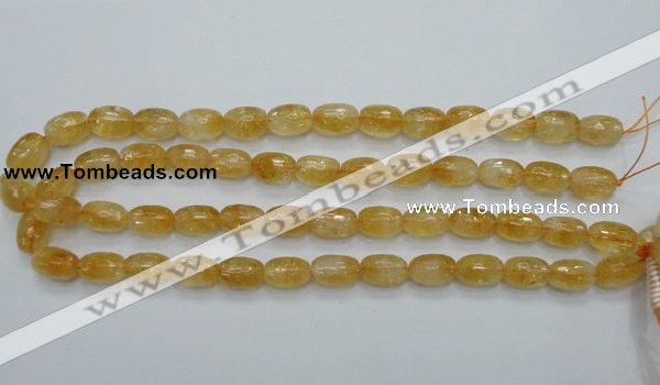 CCR35 15.5 inches 10*15mm faceted rice natural citrine gemstone beads