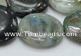 CCS07 15.5 inches 30mm flat round natural chrysocolla gemstone beads