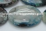 CCS11 15.5 inches 30*40mm oval natural chrysocolla gemstone beads