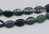 CCS164 15.5 inches 8*12mm oval dyed chrysocolla gemstone beads