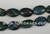 CCS165 15.5 inches 10*14mm oval dyed chrysocolla gemstone beads
