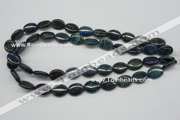 CCS166 15.5 inches 13*18mm oval dyed chrysocolla gemstone beads