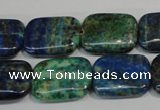 CCS177 15.5 inches 15*20mm rectangle dyed chrysocolla gemstone beads