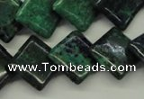 CCS178 15.5 inches 16*16mm diamond dyed chrysocolla gemstone beads