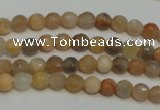 CCS310 15.5 inches 6mm faceted round natural sunstone beads