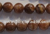 CCS354 15.5 inches 12mm round AB grade natural golden sunstone beads