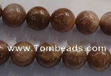 CCS364 15.5 inches 12mm round A grade natural golden sunstone beads