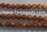 CCS371 15.5 inches 6mm round AA grade natural golden sunstone beads