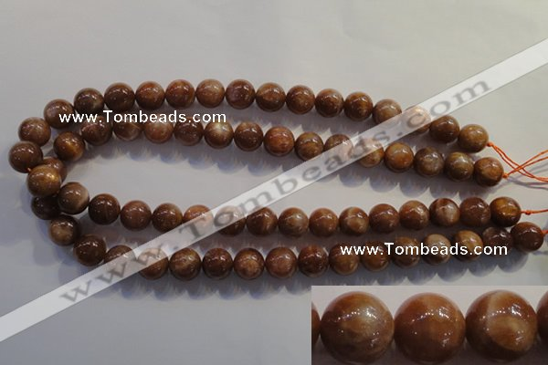 CCS374 15.5 inches 12mm round AA grade natural golden sunstone beads