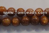 CCS383 15.5 inches 10mm round AAA grade natural golden sunstone beads