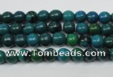 CCS400 15.5 inches 4mm round dyed chrysocolla gemstone beads