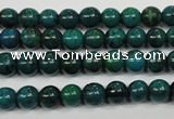 CCS401 15.5 inches 6mm round dyed chrysocolla gemstone beads