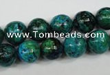 CCS404 15.5 inches 12mm round dyed chrysocolla gemstone beads