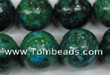 CCS408 15.5 inches 20mm round dyed chrysocolla gemstone beads