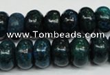 CCS415 15.5 inches 8*14mm rondelle dyed chrysocolla gemstone beads