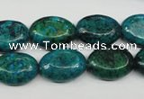 CCS444 15.5 inches 13*18mm oval dyed chrysocolla gemstone beads