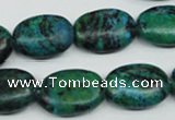 CCS445 15.5 inches 15*20mm oval dyed chrysocolla gemstone beads
