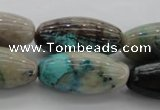 CCS45 15.5 inches 15*30mm rice natural chrysocolla gemstone beads
