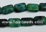 CCS472 15.5 inches 10*14mm rectangle dyed chrysocolla gemstone beads