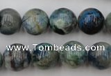 CCS505 15.5 inches 14mm round natural chrysocolla gemstone beads