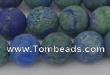 CCS544 15.5 inches 12mm round matte dyed chrysocolla beads