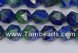 CCS546 15.5 inches 6mm faceted nuggets dyed chrysocolla beads