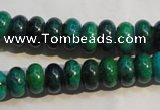 CCS616 15.5 inches 6*10mm rondelle dyed chrysocolla gemstone beads