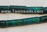 CCS625 15.5 inches 7*18mm tube dyed chrysocolla gemstone beads