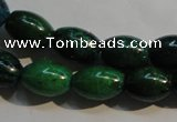 CCS631 15.5 inches 10*14mm rice dyed chrysocolla gemstone beads