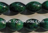 CCS633 15.5 inches 13*18mm rice dyed chrysocolla gemstone beads