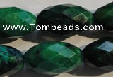CCS638 15.5 inches 14*25mm faceted rice dyed chrysocolla gemstone beads