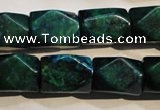 CCS649 15.5 inches 13*18mm faceted cuboid dyed chrysocolla beads