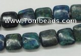 CCS65 16 inches 12*12mm square dyed chrysocolla gemstone beads