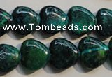 CCS651 15.5 inches 15*15mm heart dyed chrysocolla gemstone beads