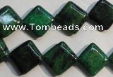 CCS681 15.5 inches 12*12mm diamond dyed chrysocolla gemstone beads