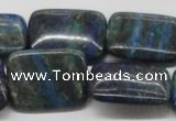 CCS69 16 inches 22*30mm rectangle dyed chrysocolla gemstone beads