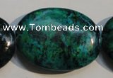 CCS701 15.5 inches 30*40mm oval dyed chrysocolla gemstone beads
