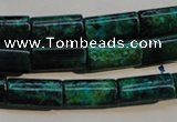 CCS708 15.5 inches 8*16mm flat tube dyed chrysocolla gemstone beads