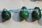 CCS714 Top-drilled 13*18mm teardrop dyed chrysocolla gemstone beads