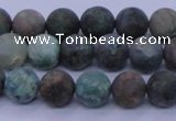 CCS762 15.5 inches 8mm round matte natural chrysocolla beads