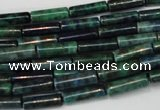 CCS77 15.5 inches 4*13mm tube dyed chrysocolla gemstone beads