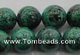 CCS804 15.5 inches 12mm round natural Chinese chrysocolla beads