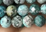 CCS883 15.5 inches 6mm faceted round natural chrysocolla beads
