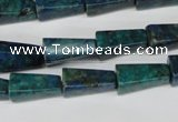 CCS90 15.5 inches 8*16mm trapezoid dyed chrysocolla gemstone beads