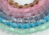 CCT04 10mm different color coin shape cats eye beads Wholesale