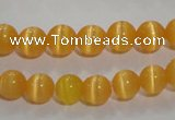 CCT1211 15 inches 4mm round cats eye beads wholesale